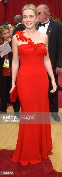 Actress Kate Winslet attends the 74th Annual Academy Awards March 24 2002 at The Kodak Theater in Hollywood CA