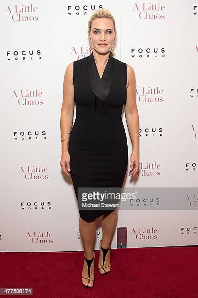Actress Kate Winslet attends the 'A Little Chaos' New York premiere at Museum of Modern Art on June 17 2015 in New York City