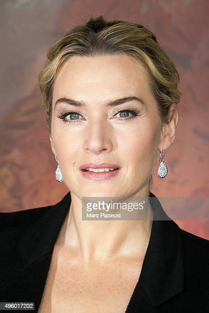 Actress Kate Winslet attends the Christmas Decorations Inauguration at Printemps Haussmann on November 6 2015 in Paris France