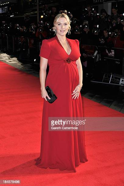 Actress Kate Winslet attends the Mayfair Gala European Premiere of 'Labor Day' during the 57th BFI London Film Festival at Odeon Leicester Square on...