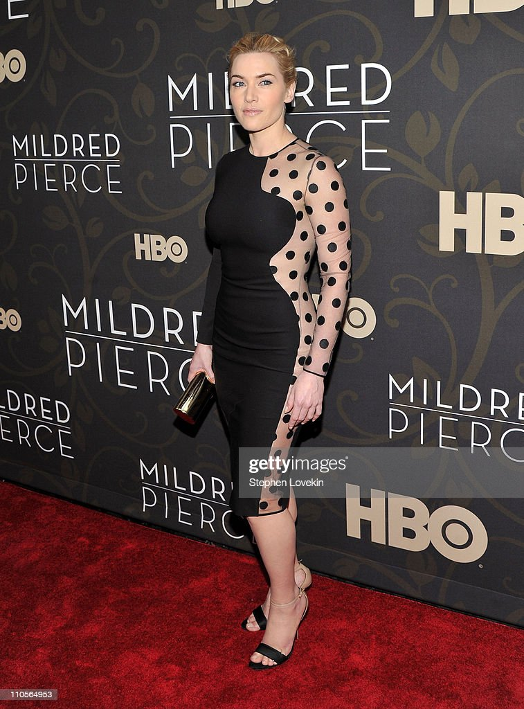 Actress Kate Winslet attends the 'Mildred Pierce' premiere at the Ziegfeld Theatre on March 21 2011 in New York City