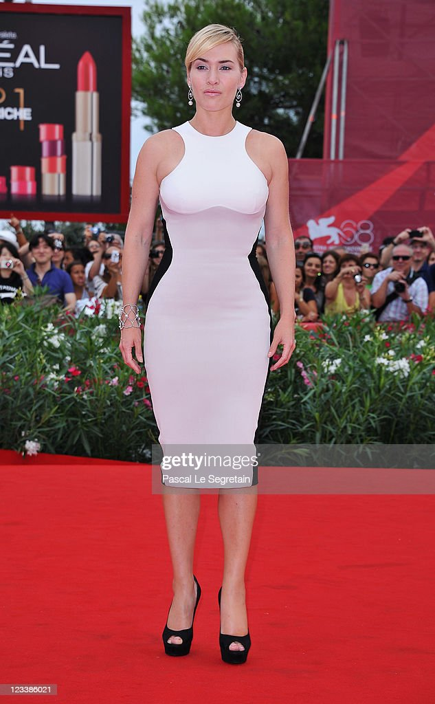 Actress Kate Winslet attends the 'Mildred Pierce' premiere during the 68th Venice Film Festival at Palazzo del Cinema on September 2 2011 in Venice...