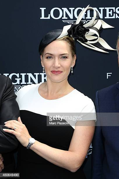 Actress Kate Winslet attends the 'Prix de Diane Longines 2014' at Hippodrome de Chantilly on June 15 2014 in Chantilly France