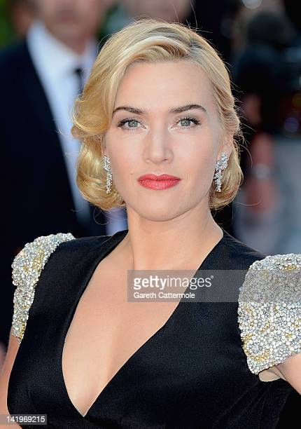 Actress Kate Winslet attends the 'Titanic 3D' World Premeire at the Royal Albert Hall on March 27 2012 in London England