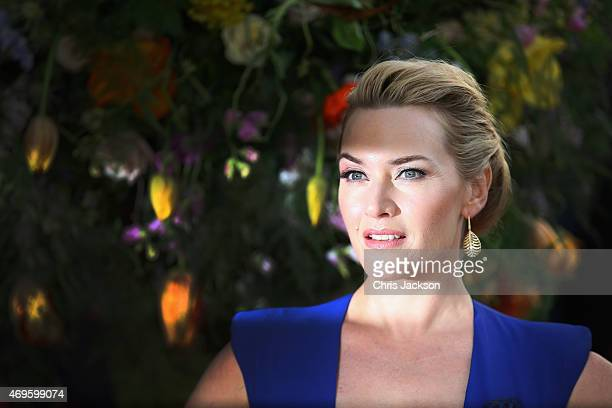 Actress Kate Winslet attends the UK premiere of 'A Little Chaos' at ODEON Kensington on April 13 2015 in London England
