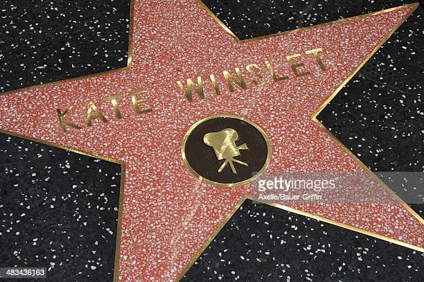 Actress Kate Winslet is honored with a Star on The Hollywood Walk of Fame on March 17 2014 in Hollywood California