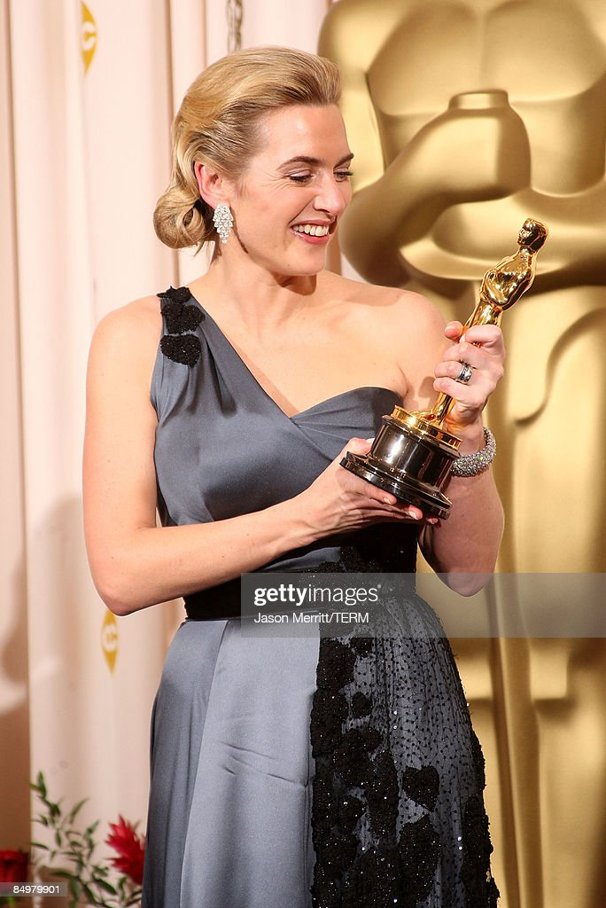 Actress Kate Winslet poses after winning the Best Actress award for 'The Reader' in the press room at the 81st Annual Academy Awards held at Kodak Theatre on February 22, 2009 in Los Angeles, California.