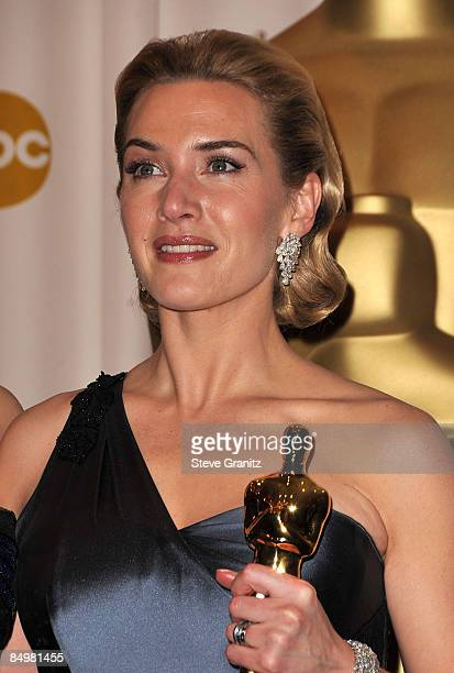 Actress Kate Winslet poses in the 81st Annual Academy Awards press room held at The Kodak Theatre on February 22 2009 in Hollywood California