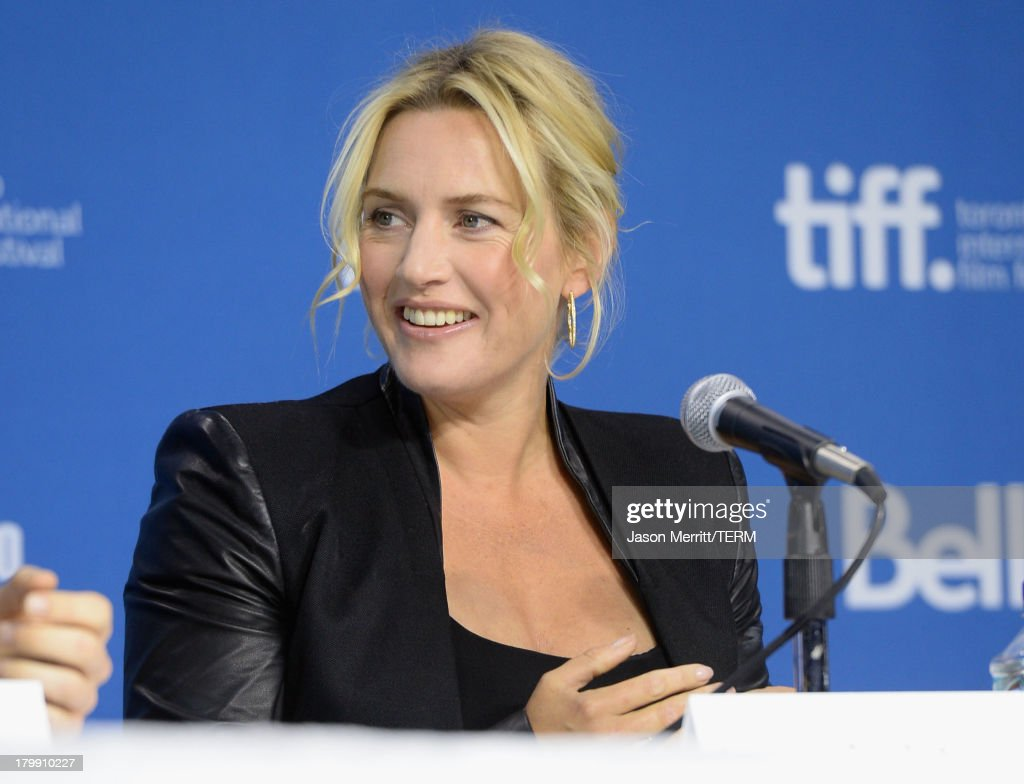 Actress <a gi-track='captionPersonalityLinkClicked' href=/galleries/search?phrase=Kate+Winslet&family=editorial&specificpeople=201923 ng-click='$event.stopPropagation()'>Kate Winslet</a> speaks onstage at 'Labor Day' Press Conference during the 2013 Toronto International Film Festival at TIFF Bell Lightbox on September 7, 2013 in Toronto, Canada.