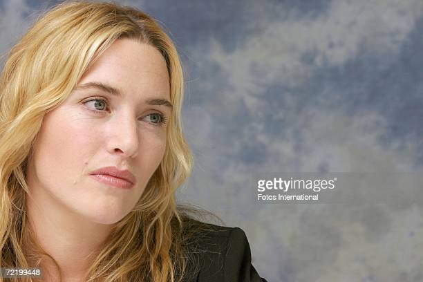 Actress Kate Winslet talks at the Four Seasons Hotel on September 11 2006 in Toronto Canada