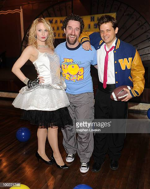Actress Kate Wood Riley actor Dustin Diamond and actor Jason Carden join the cast of 'The Awesome 80's Prom at Webster Hall on May 21 2010 in New...