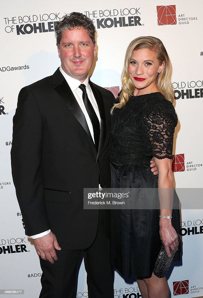 Actress Katee Sackhoff (R) and her guest attend the 18th Annual Art Directors Guild Excellence in Production Design Awards at The Beverly Hilton Hotel on February 8, 2014 in Beverly Hills, California.