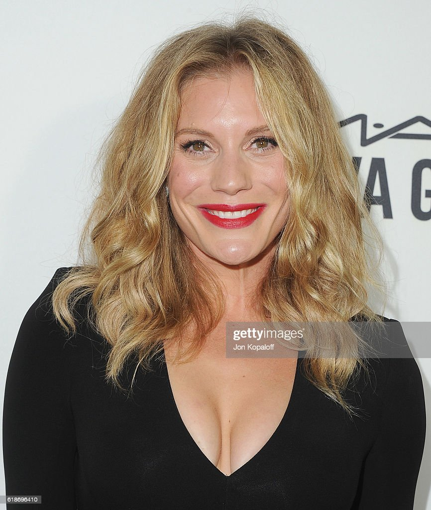 Actress Katee Sackhoff arrives at amfAR's Inspiration Gala Los Angeles at Milk Studios on October 27, 2016 in Hollywood, California.