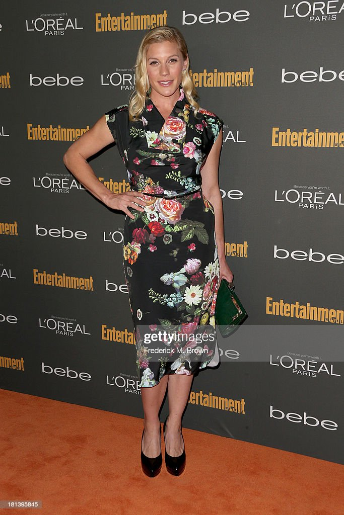 Actress Katee Sackhoff arrives at Entertainment Weekly's Pre-Emmy Party at Fig & Olive Melrose Place on September 20, 2013 in West Hollywood, California.