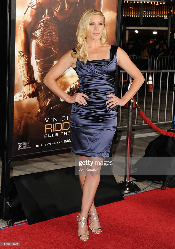 Actress Katee Sackhoff arrives at the Los Angeles Premiere 'Riddick' at the Mann Village Theater on August 28, 2013 in Westwood, California.