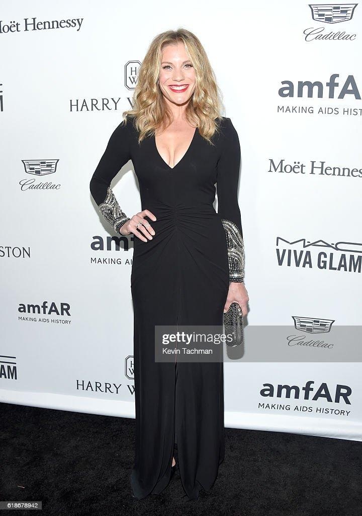 Actress Katee Sackhoff attends amfAR's Inspiration Gala at Milk Studios on October 27, 2016 in Hollywood, California.