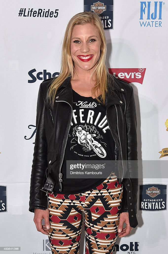 Actress Katee Sackhoff attends Kiehl's LifeRide Finale Event on August 12, 2014 in New York City.