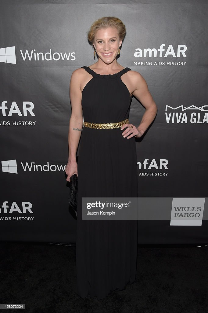 Actress Katee Sackhoff attends the 2014 amfAR LA Inspiration Gala at Milk Studios on October 29, 2014 in Hollywood, California.