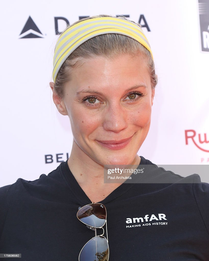 Actress <a gi-track='captionPersonalityLinkClicked' href=/galleries/search?phrase=Katee+Sackhoff&family=editorial&specificpeople=2310579 ng-click='$event.stopPropagation()'>Katee Sackhoff</a> attends the 4th annual Kiehl's LifeRide for amfAR at The Grove on August 8, 2013 in Los Angeles, California.