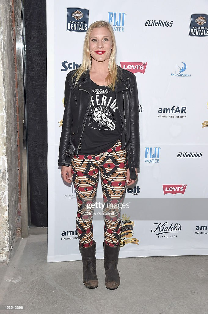 Actress Katee Sackhoff attends the 5th Annual Kiehl's LifeRide for amfAR Finale Celebration on August 12, 2014 in New York City.
