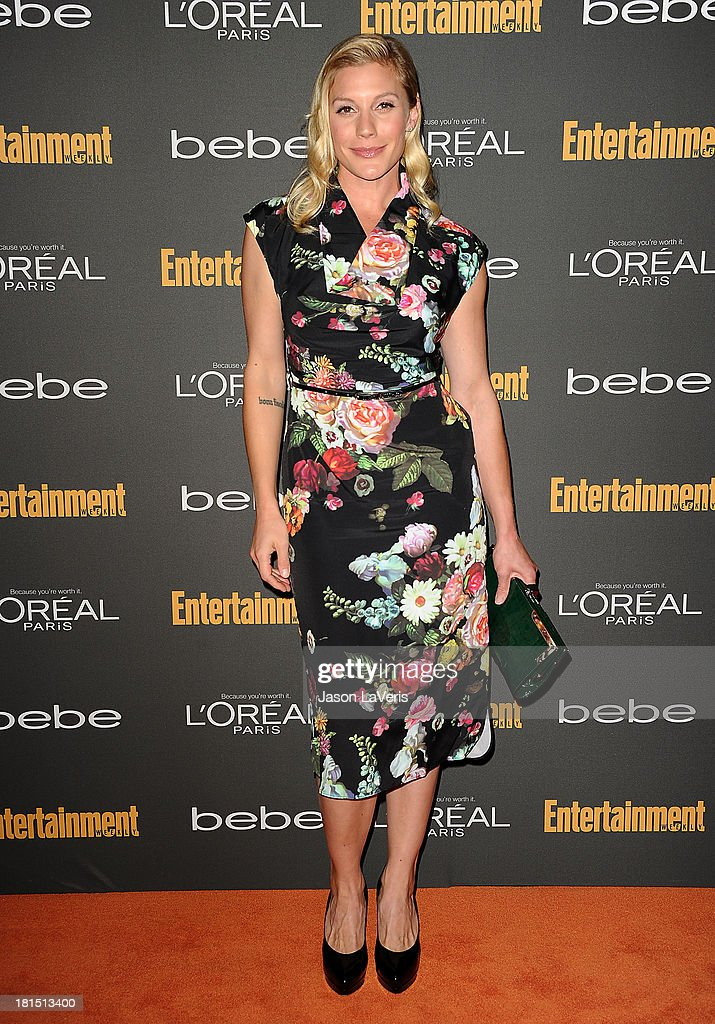 Actress Katee Sackhoff attends the Entertainment Weekly pre-Emmy party at Fig & Olive Melrose Place on September 20, 2013 in West Hollywood, California.