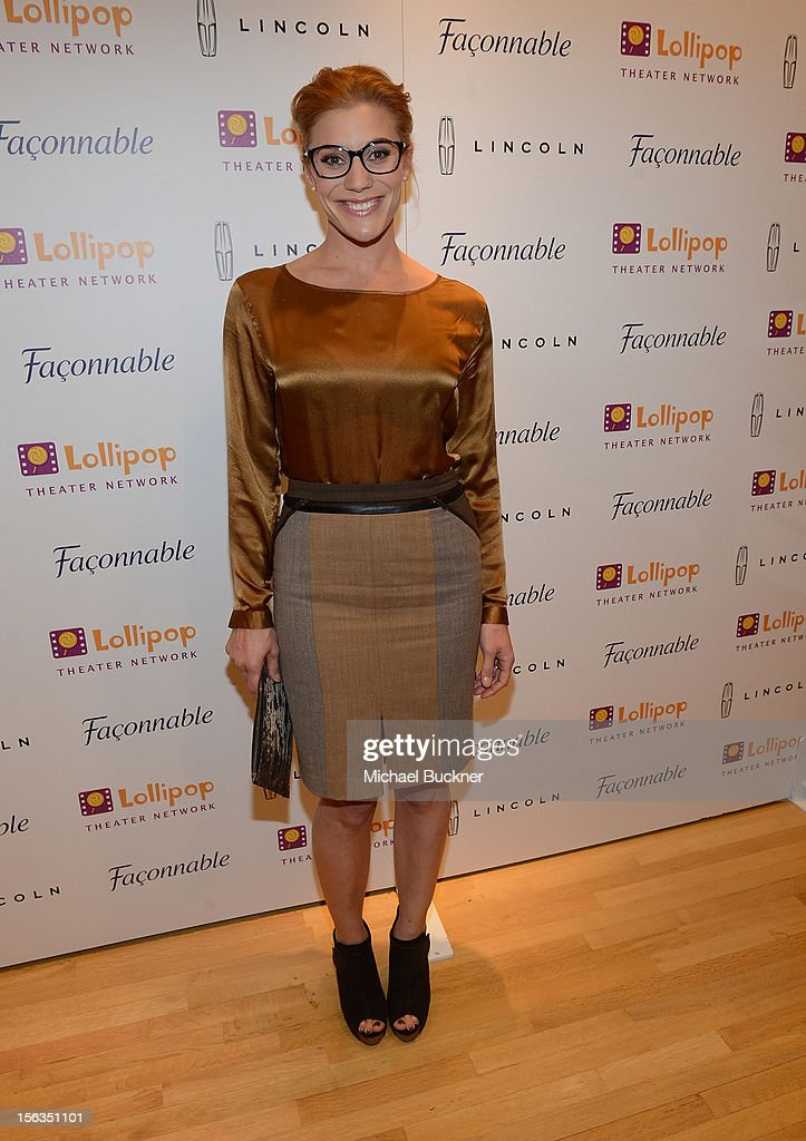 Actress <a gi-track='captionPersonalityLinkClicked' href=/galleries/search?phrase=Katee+Sackhoff&family=editorial&specificpeople=2310579 ng-click='$event.stopPropagation()'>Katee Sackhoff</a> attends the Faconnable Kicks Off The Holidays Shopping Event Benefitting Lollipop Theater Network at Faconnable on November 13, 2012 in Beverly Hills, California.