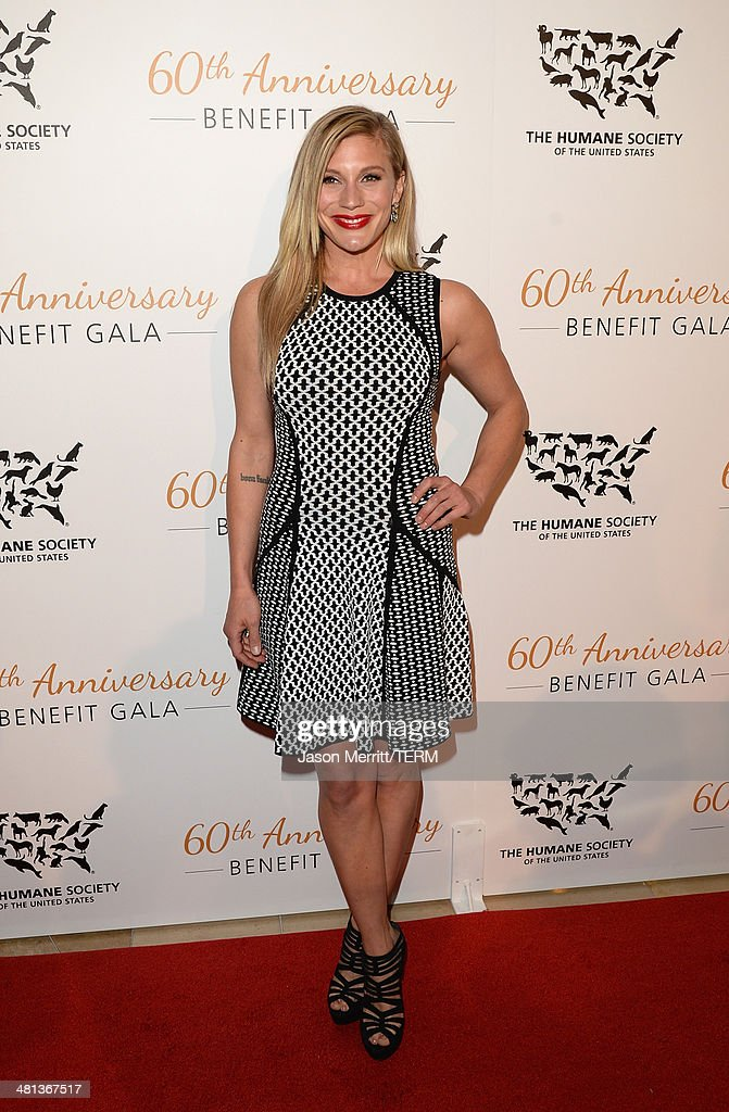 Actress <a gi-track='captionPersonalityLinkClicked' href=/galleries/search?phrase=Katee+Sackhoff&family=editorial&specificpeople=2310579 ng-click='$event.stopPropagation()'>Katee Sackhoff</a> attends the Humane Society of The United States 60th Anniversary Gala at The Beverly Hilton Hotel on March 29, 2014 in Beverly Hills, California.