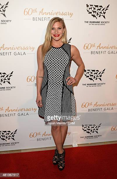 Actress Katee Sackhoff attends the Humane Society of The United States 60th Anniversary Gala at The Beverly Hilton Hotel on March 29 2014 in Beverly...