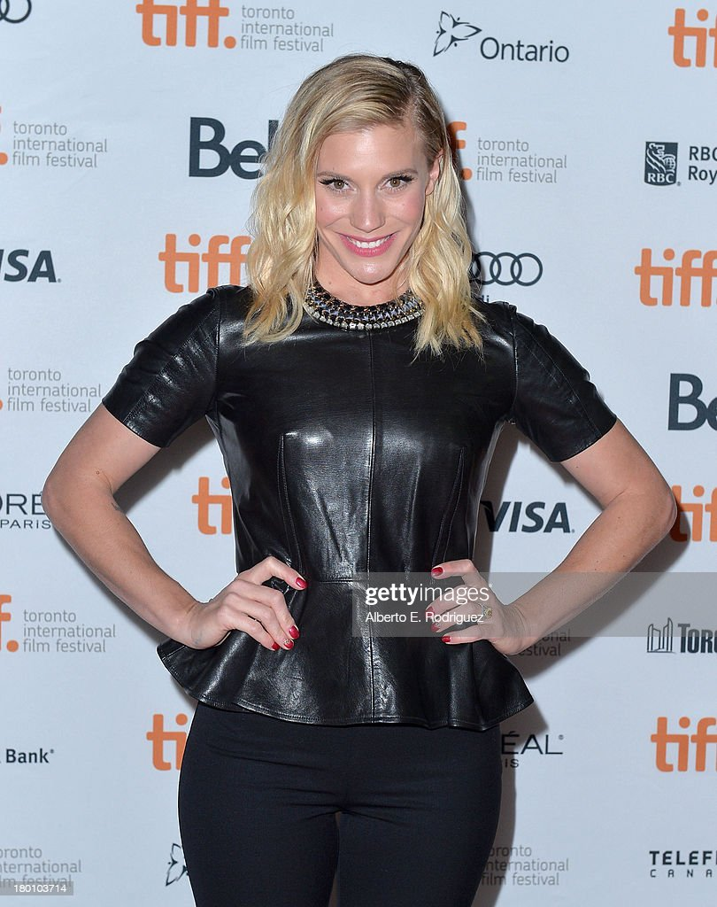 Actress <a gi-track='captionPersonalityLinkClicked' href=/galleries/search?phrase=Katee+Sackhoff&family=editorial&specificpeople=2310579 ng-click='$event.stopPropagation()'>Katee Sackhoff</a> attends the 'Oculus' premiere during the 2013 Toronto International Film Festival at Ryerson Theatre on September 8, 2013 in Toronto, Canada.