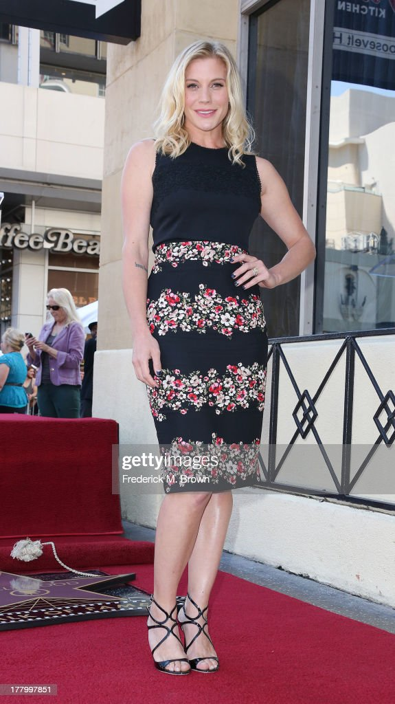 Actress Katee Sackhoff during the ceremony honoring actor Vin Diesel on The Hollywood Walk of Fame on August 26, 2013 in Hollywood, California.