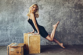 Actress Katee Sackhoff is photographed for New York Magazine on August 10 2013 in West Hollywood California