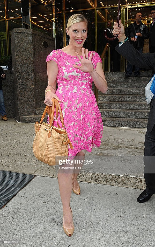 Actress Katee Sackhoff is seen outside Trump Hotel on May 8, 2013 in New York City.