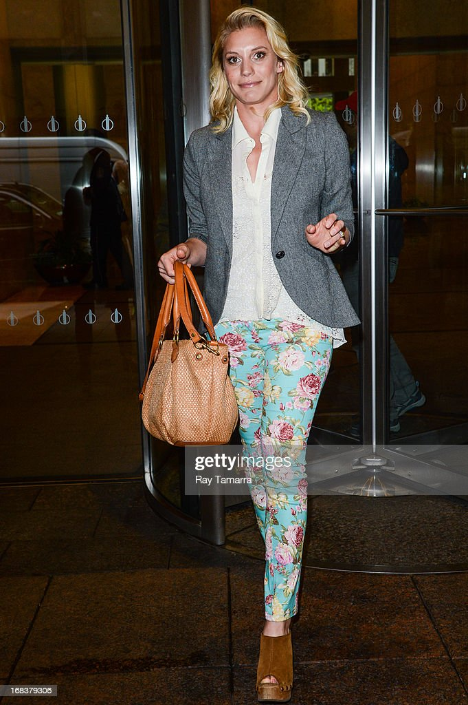 Actress Katee Sackhoff leaves the Sirius XM studios on May 8, 2013 in New York City.