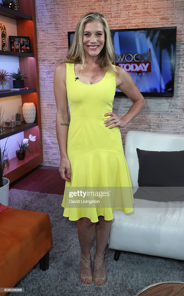 Actress Katee Sackhoff visits Hollywood Today Live at W Hollywood on September 19, 2016 in Hollywood, California.