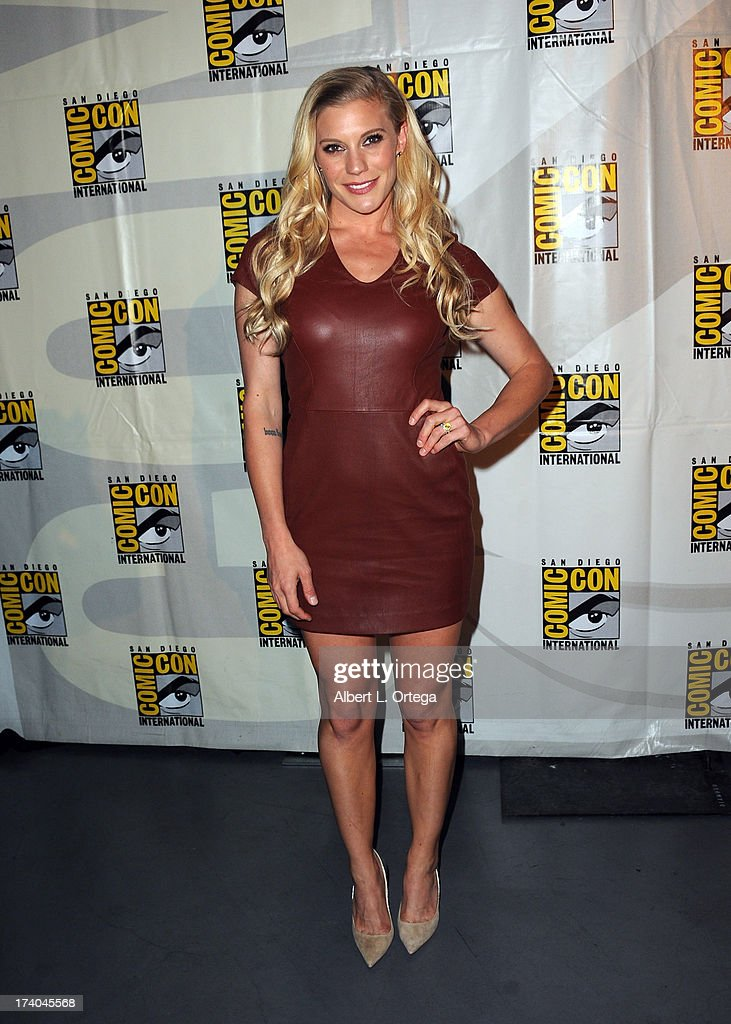 Actress Katee Sackoff appears at the 'Kick-Ass 2' and 'Riddick' Panels during Comic-Con International 2013 at San Diego Convention Center on July 19, 2013 in San Diego, California.