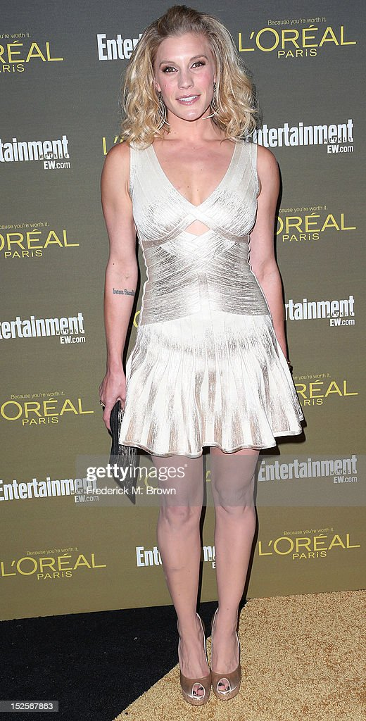 Actress Katee Sackoff attends the 2012 Entertainment Weekly Pre-Emmy Party at the Fig & Olive on September 21, 2012 in West Hollywood, California.