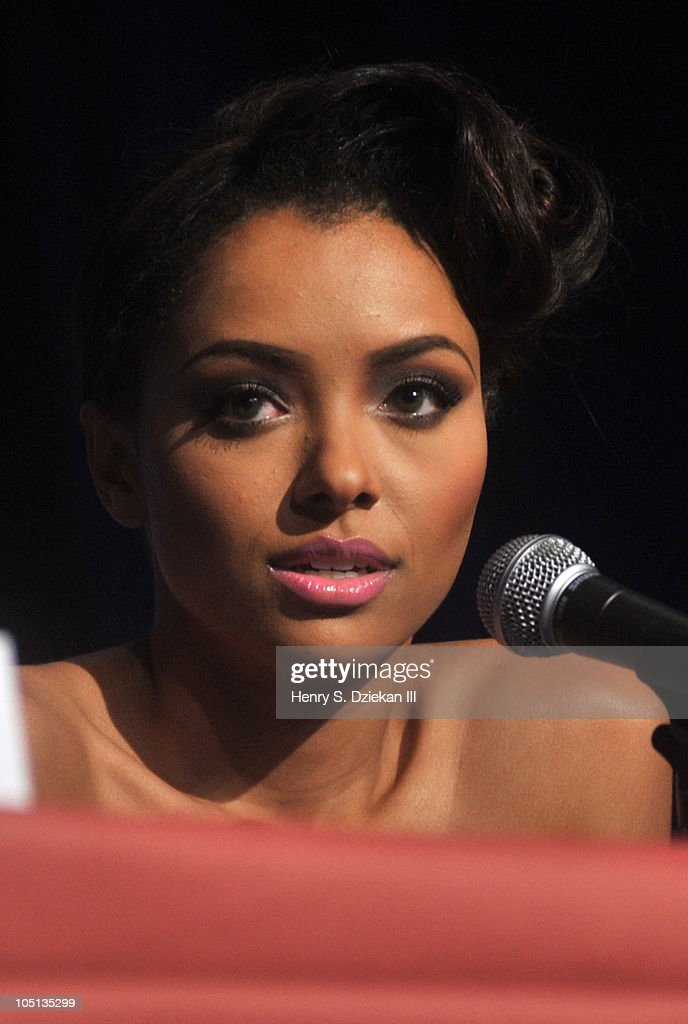 Actress Katerina Graham attends the 2010 New York Comic Con at the Jacob Javitz Center on October 10, 2010 in New York City.