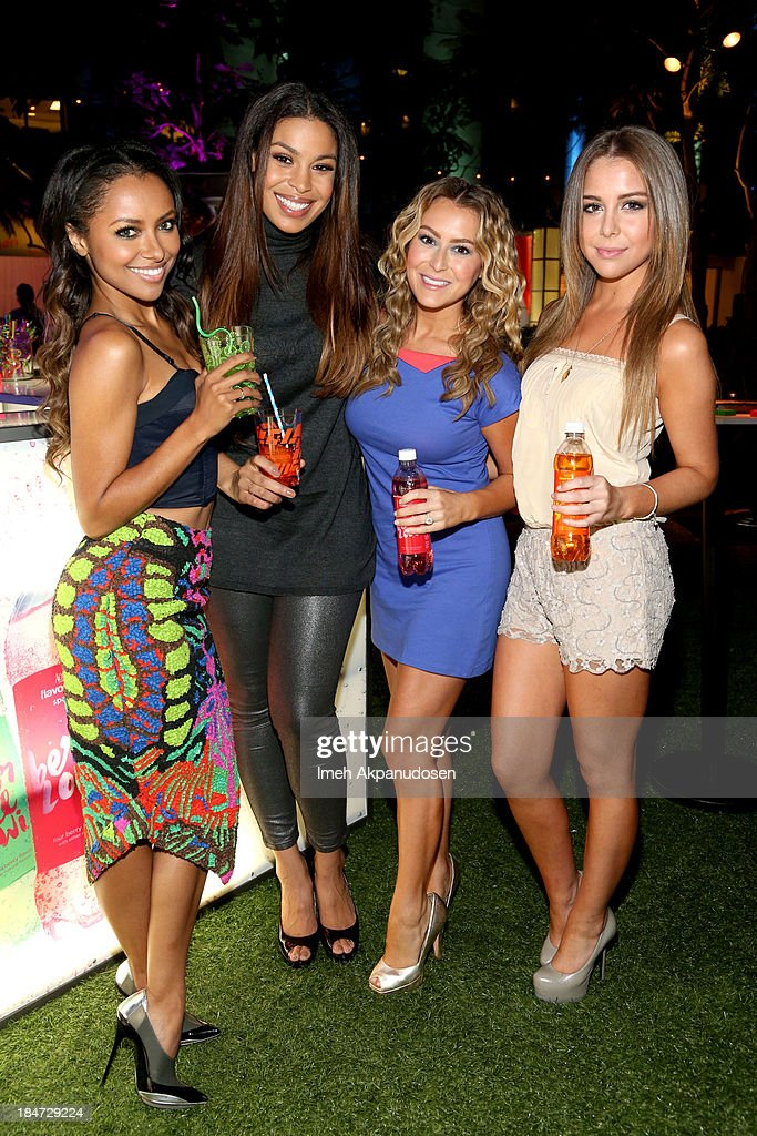 Actress <a gi-track='captionPersonalityLinkClicked' href=/galleries/search?phrase=Katerina+Graham&family=editorial&specificpeople=4521615 ng-click='$event.stopPropagation()'>Katerina Graham</a>, singer <a gi-track='captionPersonalityLinkClicked' href=/galleries/search?phrase=Jordin+Sparks&family=editorial&specificpeople=4165535 ng-click='$event.stopPropagation()'>Jordin Sparks</a>, actress Alexa Vega and <a gi-track='captionPersonalityLinkClicked' href=/galleries/search?phrase=Makenzie+Vega&family=editorial&specificpeople=642008 ng-click='$event.stopPropagation()'>Makenzie Vega</a> attend Aquafina Launch of FlavorSplash at Sony Pictures Studios on October 15, 2013 in Culver City, California.
