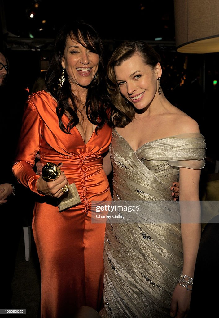Actress <a gi-track='captionPersonalityLinkClicked' href=/galleries/search?phrase=Katey+Sagal&family=editorial&specificpeople=221480 ng-click='$event.stopPropagation()'>Katey Sagal</a> and <a gi-track='captionPersonalityLinkClicked' href=/galleries/search?phrase=Milla+Jovovich&family=editorial&specificpeople=202207 ng-click='$event.stopPropagation()'>Milla Jovovich</a> attend The Weinstein Company and Relativity Media's 2011 Golden Globe After Awards Party presented by Marie Claire held at The Beverly Hilton hotel on January 16, 2011 in Beverly Hills, California.