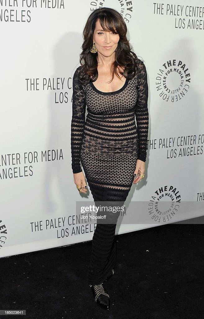 Actress <a gi-track='captionPersonalityLinkClicked' href=/galleries/search?phrase=Katey+Sagal&family=editorial&specificpeople=221480 ng-click='$event.stopPropagation()'>Katey Sagal</a> arrives at The Paley Center for Media Hosts 2013 Benefit Gala Honoring FX Networks on October 16, 2013 in Los Angeles, California.