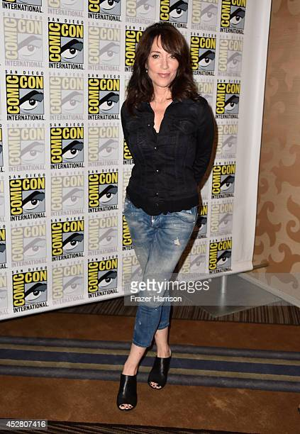 Actress Katey Sagal attends FX's 'Sons of Anarchy' Press Line during ComicCon International 2014 at San Diego Convention Center on July 27 2014 in...