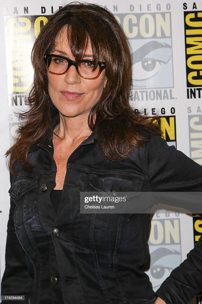 Actress <a gi-track='captionPersonalityLinkClicked' href=/galleries/search?phrase=Katey+Sagal&family=editorial&specificpeople=221480 ng-click='$event.stopPropagation()'>Katey Sagal</a> attends the 'Sons of Anarchy' press line during day 4 of Comic-Con International on July 21, 2013 in San Diego, California.