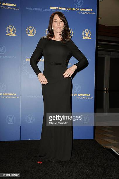 Actress Katey Sagal poses in the press room during the 63rd Annual DGA Awards held at the Grand Ballroom at Hollywood Highland Center on January 29...