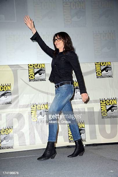 Actress Katey Sagal speaks onstage at the 'Sons Of Anarchy' panel during ComicCon International 2013 at San Diego Convention Center on July 21 2013...