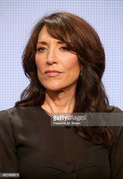 Actress Katey Sagal speaks onstage at the 'Sons of Anarchy' panel during the FX Networks portion of the 2014 Summer Television Critics Association at...