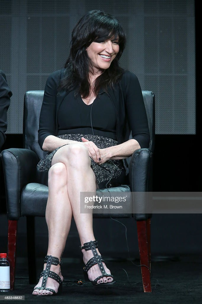 Actress <a gi-track='captionPersonalityLinkClicked' href=/galleries/search?phrase=Katey+Sagal&family=editorial&specificpeople=221480 ng-click='$event.stopPropagation()'>Katey Sagal</a> speaks onstage during 'The Bastard Executioner' panel discussion at the FX portion of the 2015 Summer TCA Tour at The Beverly Hilton Hotel on August 7, 2015 in Beverly Hills, California.