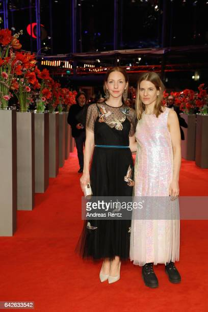 Actress Katharina Schuettler and costume designer Aino Labrenz arrive for the closing ceremony of the 67th Berlinale International Film Festival...