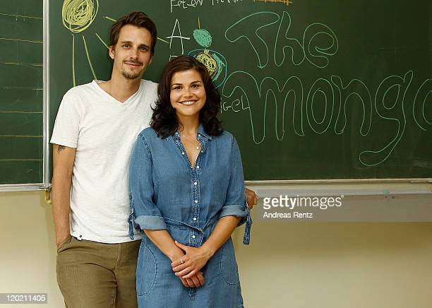 Actress Katharina Wackernagel and actor Max von Thun attend ''The Mongolettes' photocall' on August 1 2011 in Berlin Germany