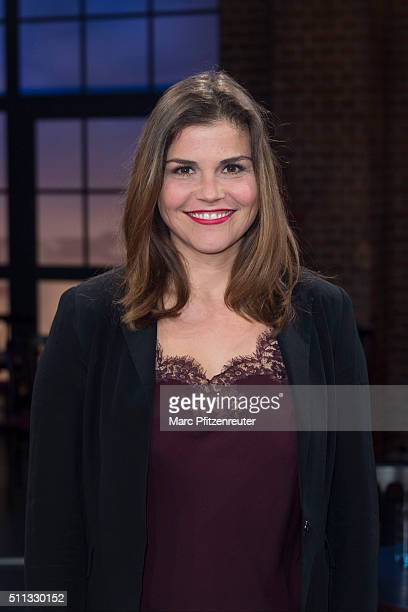 Actress Katharina Wackernagel attends the 'Koelner Treff' TV Show at the WDR Studio on February 19 2016 in Cologne Germany