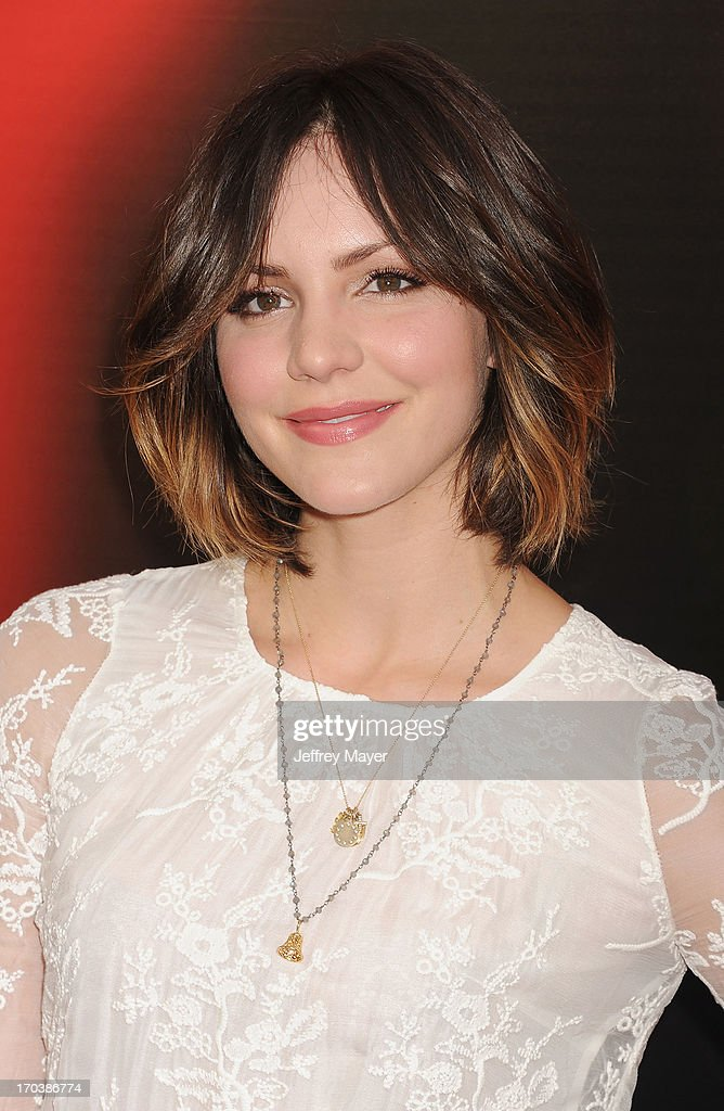 Actress Katharine McPhee arrives at HBO's 'True Blood' season 6 premiere at ArcLight Cinemas Cinerama Dome on June 11, 2013 in Hollywood, California.
